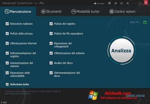 Screenshot Advanced SystemCare Pro for Windows 10