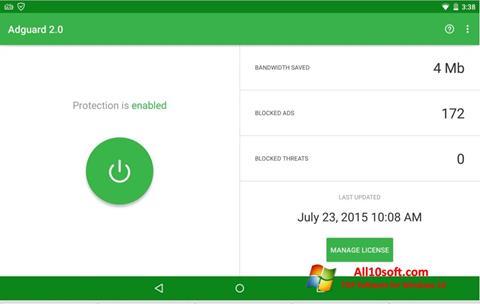 Screenshot Adguard for Windows 10