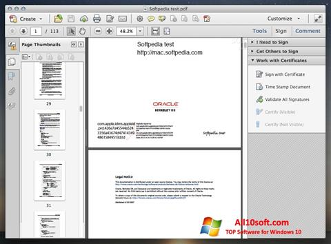 Screenshot Adobe Acrobat for Windows 10