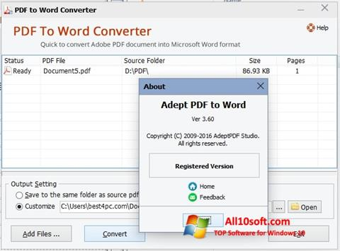 Download PDF to Word Converter for Windows 10 (32/64 bit) in