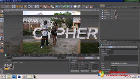 Screenshot CINEMA 4D for Windows 10