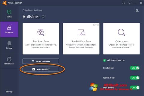 Screenshot Avast for Windows 10