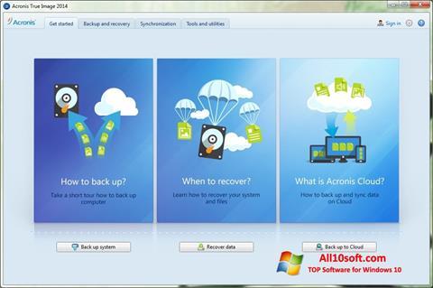 Screenshot Acronis True Image for Windows 10