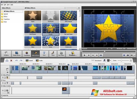Screenshot AVS Video Editor for Windows 10