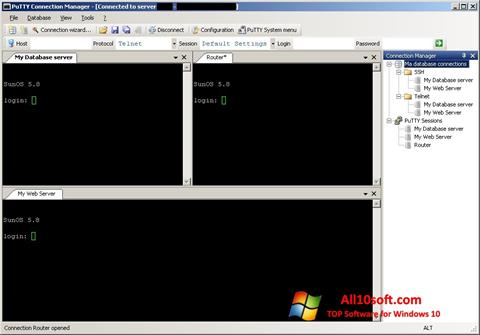 Screenshot PuTTY Connection Manager for Windows 10