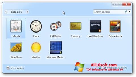 Screenshot 8GadgetPack for Windows 10