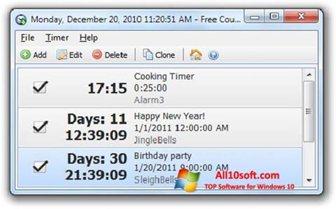 Screenshot Free Countdown Timer for Windows 10