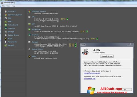 Screenshot Speccy for Windows 10