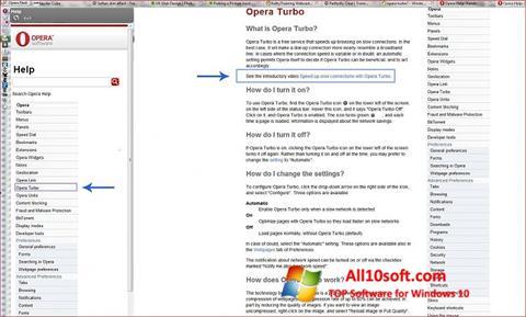 Screenshot Opera Turbo for Windows 10