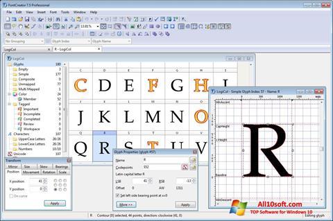 Screenshot Font Creator for Windows 10