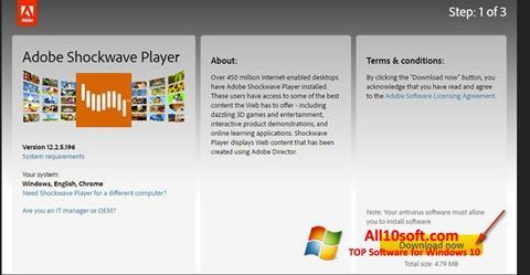 Screenshot Adobe Shockwave Player for Windows 10