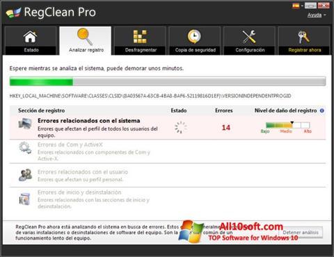 Screenshot RegClean Pro for Windows 10