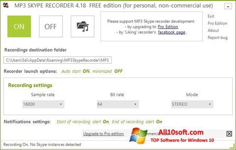 Screenshot MP3 Skype Recorder for Windows 10