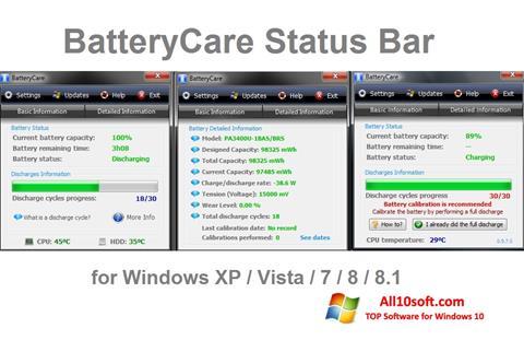 Screenshot BatteryCare for Windows 10
