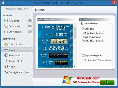 Screenshot Atomic Alarm Clock for Windows 10