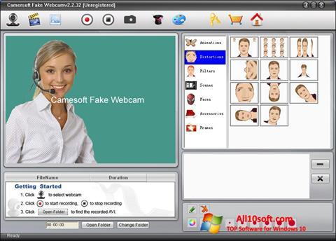 Screenshot Fake Webcam for Windows 10