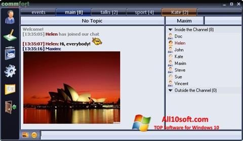 Screenshot CommFort for Windows 10