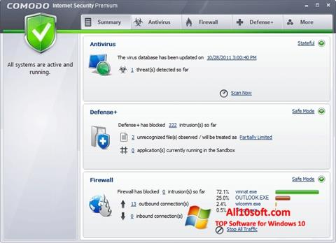Screenshot Comodo Internet Security Premium for Windows 10