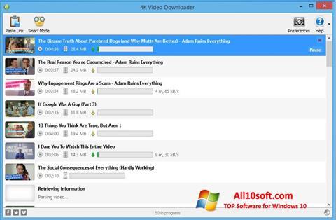 Screenshot 4K Video Downloader for Windows 10