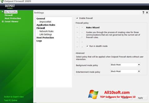 Screenshot Outpost Firewall Free for Windows 10