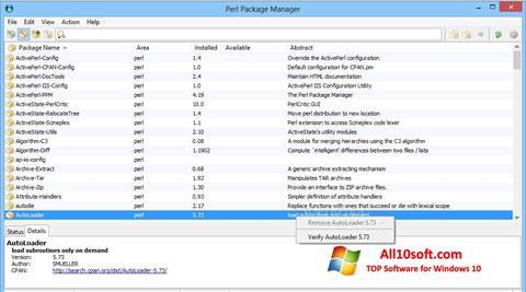 Screenshot ActivePerl for Windows 10