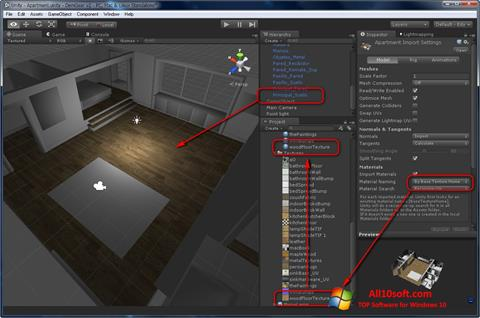 Screenshot Unity 3D for Windows 10