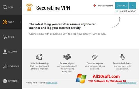 Screenshot Avast SecureLine VPN for Windows 10