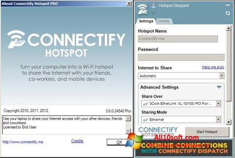 Screenshot Connectify Hotspot for Windows 10