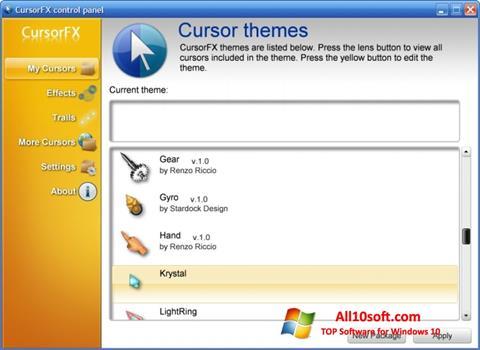Screenshot CursorFX for Windows 10