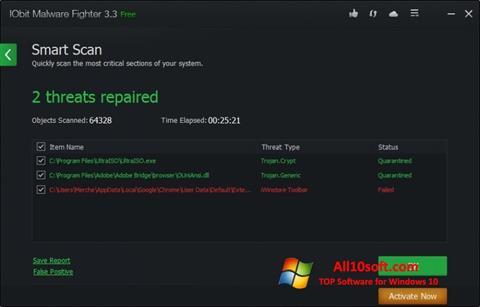 Screenshot IObit Malware Fighter for Windows 10