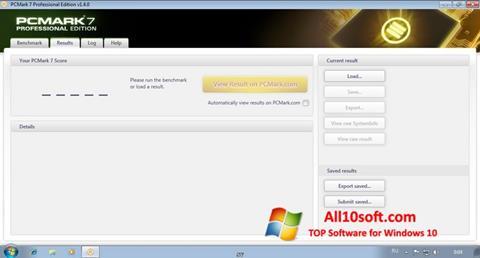 Screenshot PCMark for Windows 10