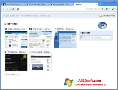 Screenshot SRWare Iron for Windows 10