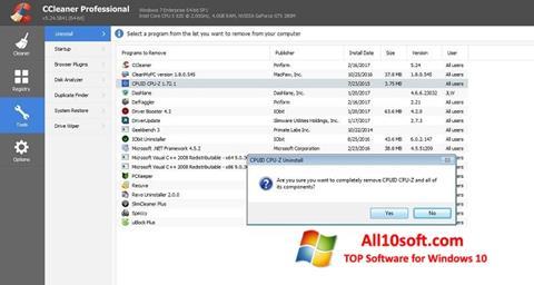 Screenshot CCleaner Professional Plus for Windows 10