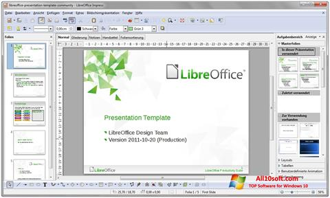 Screenshot LibreOffice for Windows 10