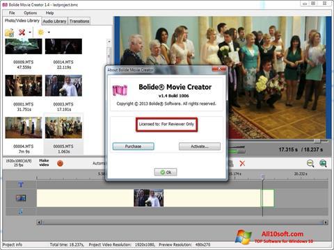 Screenshot Bolide Movie Creator for Windows 10