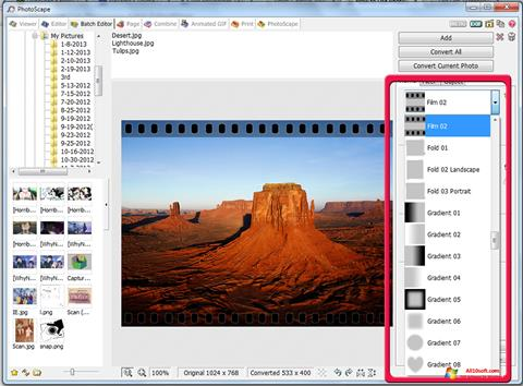 Screenshot PhotoScape for Windows 10