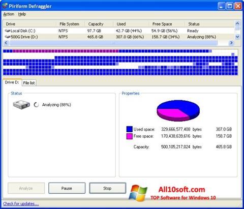Screenshot Defraggler for Windows 10