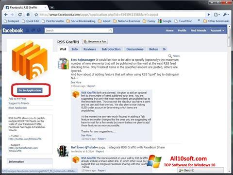 Screenshot Facebook for Windows 10