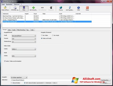 Screenshot XMedia Recode for Windows 10