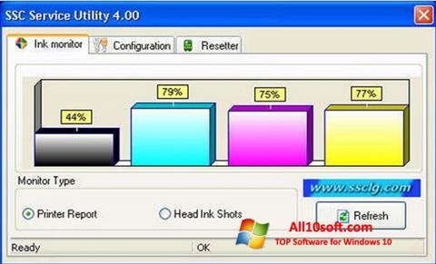 Screenshot SSC Service Utility for Windows 10
