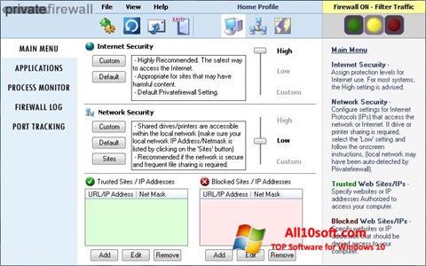 Screenshot Privatefirewall for Windows 10