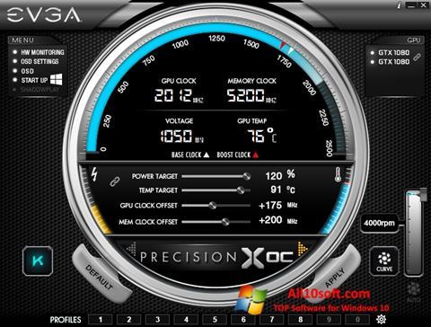 Screenshot EVGA Precision for Windows 10