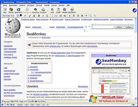 Screenshot SeaMonkey for Windows 10