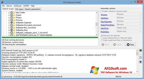Screenshot AVZ for Windows 10