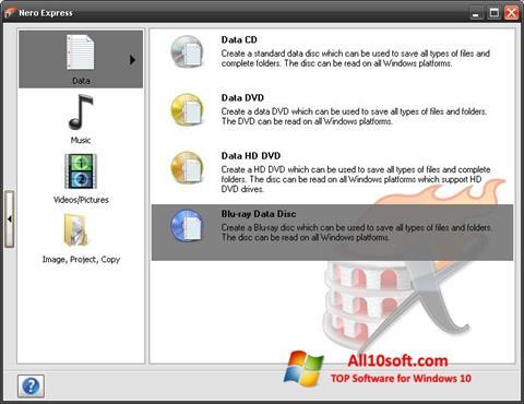 Screenshot Nero Micro for Windows 10