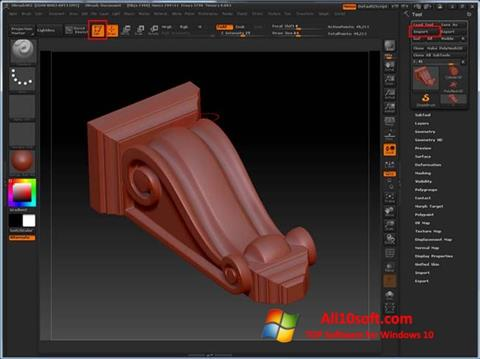 Screenshot ZBrush for Windows 10