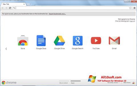 Screenshot Google Chrome for Windows 10