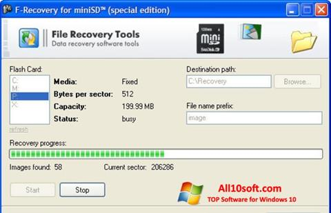 Screenshot F-Recovery SD for Windows 10