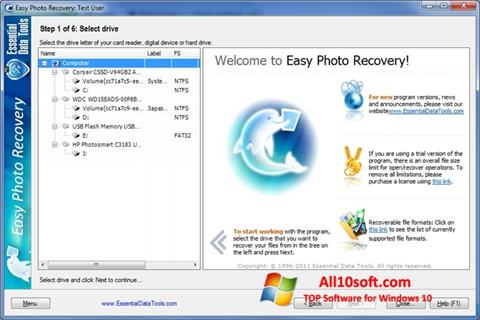 Screenshot Easy Photo Recovery for Windows 10