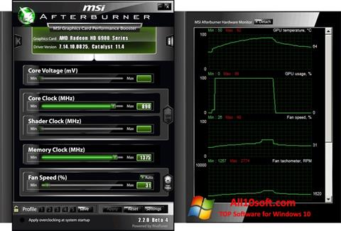 Screenshot MSI Afterburner for Windows 10